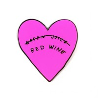 Red Wine Heart Pin