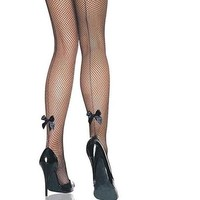Sexy Bow Fishnet Stockings