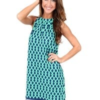 Navy And Green Tied Together With A Smile Dress | Monday Dress Boutique