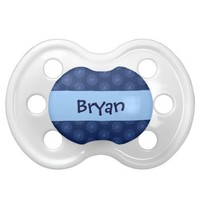 Blue Circles Baby Boy Custom Name Baby Pacifiers