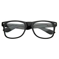 Retro Clear Lens Nerd Geek Horned Rim Glasses 2873