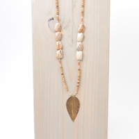 LOVE, POPPY LEAF PENDENT NECKLACE