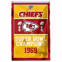 Kansas City Chiefs Super Bowl Champions Flag 3ft X 5ft Polyester NFL1 Banner Flying Size No.4 90*150cm Custom Flag