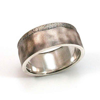 Mens Ring Sterling Silver Abstract Handmade by SwankMetalsmithing