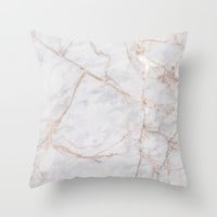 White Italian Marble & Gold Wall Tapestry by New Wave Studio