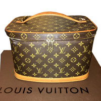 SOLD - Louis Vuitton Monogram Large Cosmetic Travel Case - Classic!