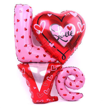 Large Size Love Letter Shaped Foil Balloons