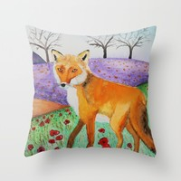March Early Bloom Throw Pillow by FrancescaRizzato