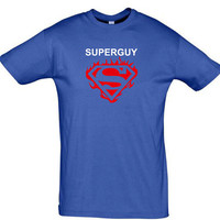 Superguy mens t shirt fathers day gift birthday gift gift for him gift for boyfriend gift for groom valentines day shirt funny t shirt