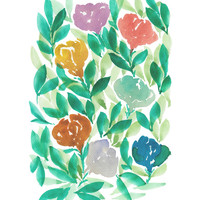 """""""hand painted flowers_1E"""" - Painting Art Print by aticnomar."""