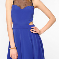 Urban Outfitters - LUSH Mesh Inset Skater Dress