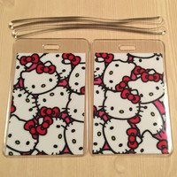 Luggage Tags Set of 2 Hello Kitty