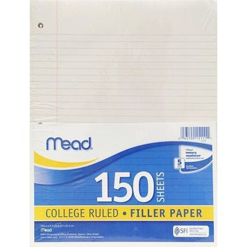 Notebook Paper College Ruled 150 Ct