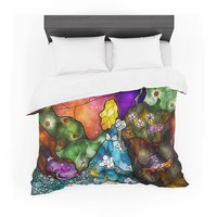 "Mandie Manzano ""Fairy Tale Alice in Wonderland"" Cotton Duvet"