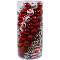 Holiday Time Christmas Ornaments Shatterproof, Set of 101 - Walmart.com