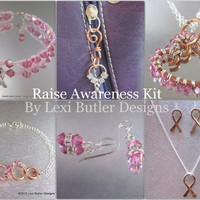 Raise Awareness 7pcs Jewelry Fundraising  Kit