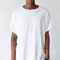 Your Neighbors Collarless Dropped Shoulder Crew Neck Tee-