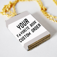 Your favorite book mini book necklace