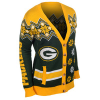 Green Bay Packers Women's Official NFL Cardigan Sweater