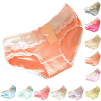 High quantity Lovely Briefs Women's Multi-Color Cotton Soft Lace Bow-knot Underwear