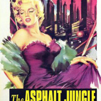 The Asphalt Jungle Marilyn Monroe Vintage Movie Poster