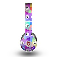 The Multicolored Shy Owls Pattern Skin for the Beats by Dre Original Solo-Solo HD Headphones