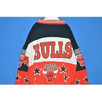 90s Chicago Bulls All Over Print Sweatshirt NBA Youth Small