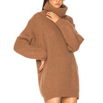 DCCKN6V ACNE High quality Fashion High Neck Long Sleeve Pullover Pure Color Sweater