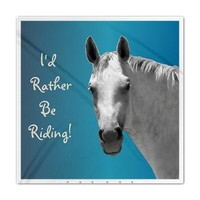 Id Rather Be Riding Horse Queen Duvet> Bedding> Patty's Pet Art
