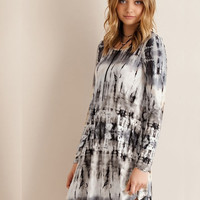 Hello Marbled Dress - Grey