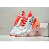 Nike Air Max Flyknit Trending Women Stylish Breathable Sport Running Air Cushion Shoes Sneakers White/Orange
