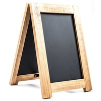 Natural Wood & Black Chalkboard Table Easel | Shop Hobby Lobby