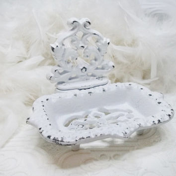 Soap Dish / Cast Iron / Shabby Chic / Vintage Inspired / Shabby Country Cottage