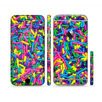 The Neon Sprinkles Sectioned Skin Series for the Apple iPhone 6