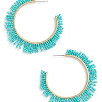 Rebecca Minkoff Beaded Hoop Earrings | Nordstrom