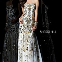 Sherri Hill 21077 Beaded A Line Prom Dress