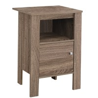 Accent Table - Dark Taupe Night Stand With Storage