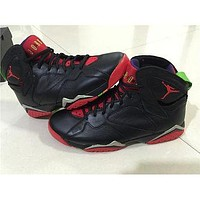 Air Jordan 7 ¡°Marvin The Martian black/red Basketball Shoes 41-47