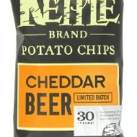 Kettle Brand Potato Chips, Cheddar Beer, 5-Ounce Bags (Pack of 15)