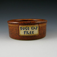 BowWow Dog Bowl - 16 to 18 Ounce DOGS EAT FREE Pet Food or Water Bowl - Ready to Ship