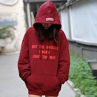 VETEMENTS couple hooded hemp heavy sweater