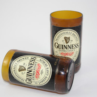 Drinking Glasses - Recycled Beer Bottle - Guinness Extra Stout - 8 oz.