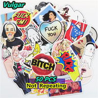 50 PCS Vulgar Stickers for Laptop Scrapbooking Sexy Violence Car Styling JDM Stickers Sheets Suitcase Doodle DIY Vinyl Decals