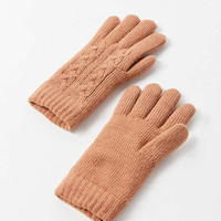 Cable Knit Chenille-Lined Glove | Urban Outfitters