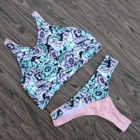 Print Floral Bikinis Beach Summer Swimsuits