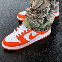 Nike SB Dunk Low Hot Sale Women Men Casual Sport Shoes Sneakers Orange