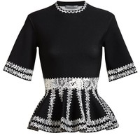 ALEXANDER MCQUEEN | Snake Woven Stretch-Knit Top | Browns fashion & designer clothes & clothing