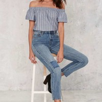 Line Forever Pinstripe Top
