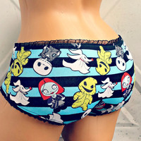 Nightmare Before Christmas kawaii stripe boyshort Panties Lingerie your size