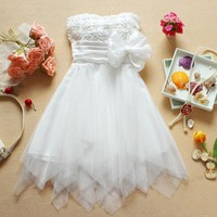 Bow Tee Dress whits -DS45